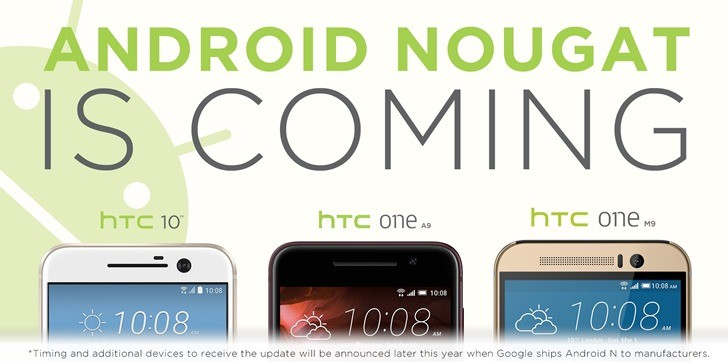 Android Nougat Update Promised For Three HTC Devices