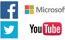 Facebook Microsoft Twitter and Youtube