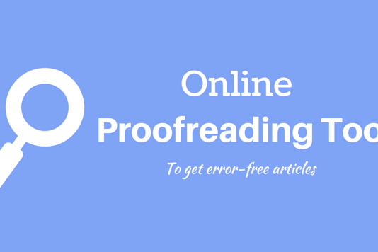 Online Proofreading Tools and Websites