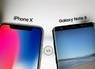 iPhone X vs Note 8